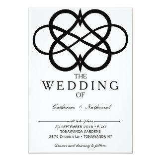 Modern Simple Infinity Heart Wedding Invitation