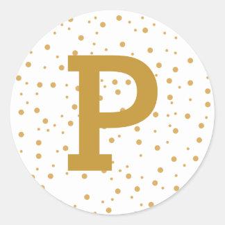 Modern Simple Joy Personalized Gold Envelope Seal