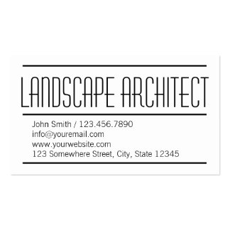 Modern Simple Landscape Architect Business Card