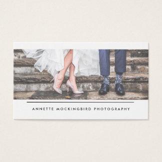 Modern Simple Minimalist Photography Business Card