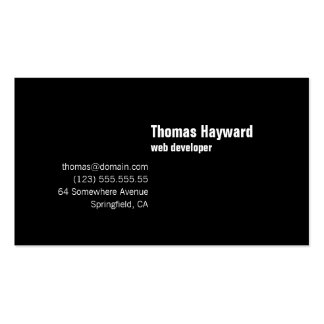 Modern Simple & Plain Affordable Business Card