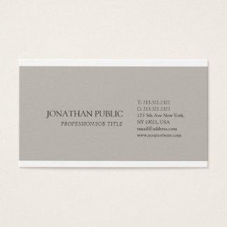 Modern Simple Plain Elegant Colors Professional Business Card