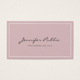 Modern Simple Plain Elegant Colors Professional Business Card