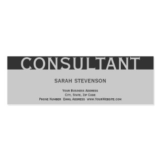 Modern Simple Plain Grey Consultant Business Card
