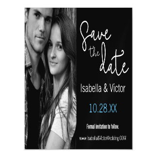 Modern, Simple, Save the Date Magnetic Card