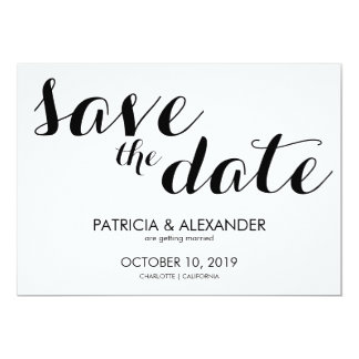 Modern Simple Save The Date Typography Card
