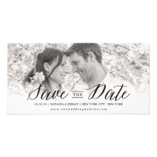 Modern Simple Script Save The Date Photo Card