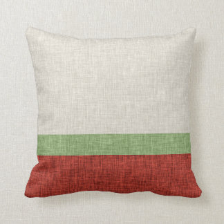 Modern Simple Stripe Burnt Orange Taupe Green Cushion