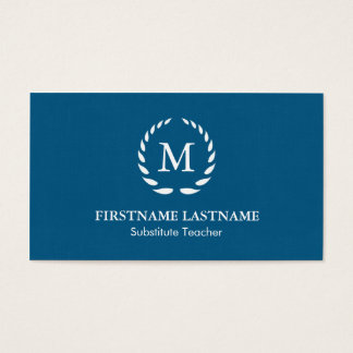 Modern & Simple Substitute Teacher Business Card