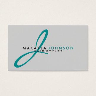 Modern & Simple teal blue Monogram Professional