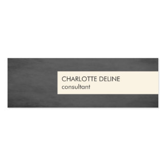 Modern Simple Texture Grey Stripe Consultant Pack Of Skinny Business Cards