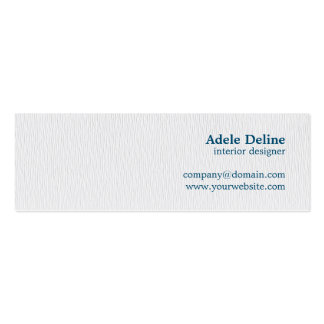 Modern Simple Texture White Blue Interior Designer Pack Of Skinny Business Cards