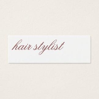 Modern Simple Trend Hair Stylist Minimalist Script Mini Business Card