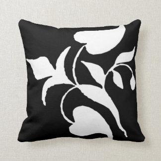 Modern Simple White Black Vine American MoJo Pillo Throw Cushion