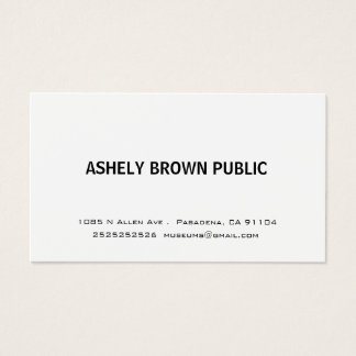 Modern Simple White Business Card