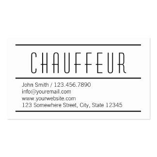 Modern Simple White Chauffeur Business Card