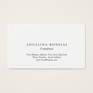 Modern Simple White Minimalist Consultant Manager