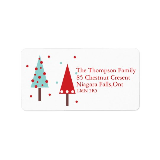 Modern Simplistic Christmas Trees Address Labels