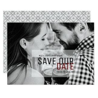 Modern & Simplistic Save the Date Photo Card