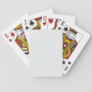 Modern Simply White Customisable Playing Cards