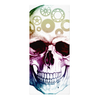 Modern Skull Tattoo Full Color Rack Card