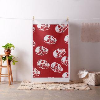 Modern skulls red fabric