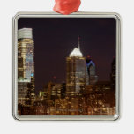 Modern skyscrapers of Philadelphia downtown Christmas Tree Ornament