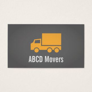 Modern, Sleek, Chic, Mover Company, Orange Truck Business Card