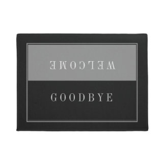 Modern Slick Black And gray-Welcome Goodbye Doormat
