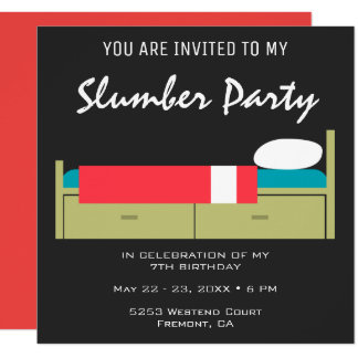 Modern Slumber Party Birthday Invitation