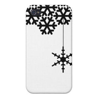 Modern Snow Flakes Cover For iPhone 4