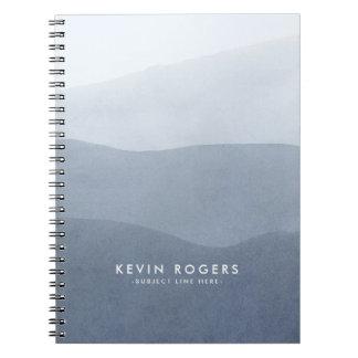 Modern Soft Gray Gradient Paper Texture Notebook