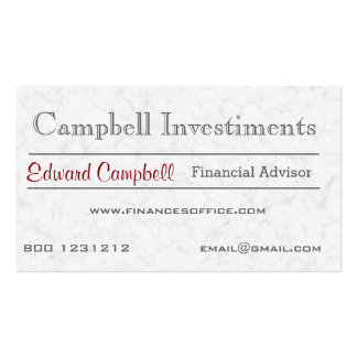 Modern Solid Classic Traditional White Marble Rock Pack Of Standard Business Cards