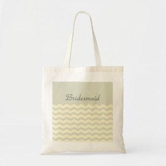 modern sophisticated chevron zigzag beige tote bag