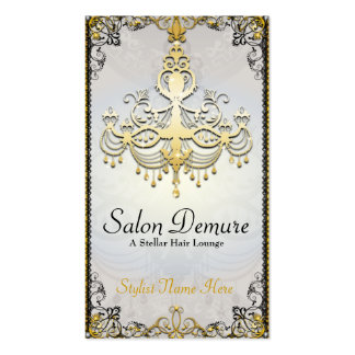 Modern Sophisticated Gold  Designer Salon Business Card Template