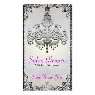 Modern Sophisticated Silver Designer Salon Pack Of Standard Business Cards