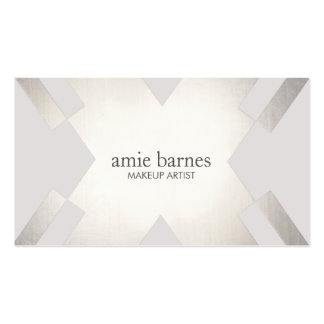 Modern Sophisticated Silver & Gray Geometric Chic Pack Of Standard Business Cards