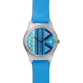 Modern Southwestern Geometric, Blue & Turquoise Watch