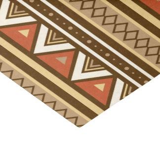 Modern Southwestern Geometric, Brown, Tan & Rust Tissue Paper