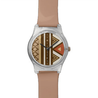 Modern Southwestern Geometric, Brown, Tan & Rust Watch