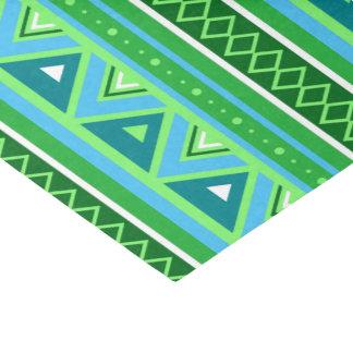 Modern Southwestern Geometric, Green and Aqua Tissue Paper