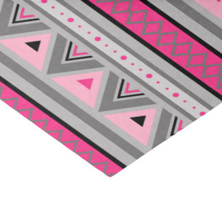 Modern Southwestern Geometric, Pink and Gray Tissue Paper