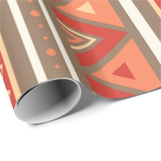 Modern Southwestern Geometric, Taupe & Orange Wrapping Paper