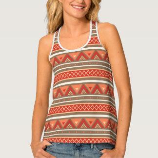 Modern Southwestern Stripes, Taupe & Orange Singlet