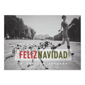 Modern Spanish Holiday Photo Card