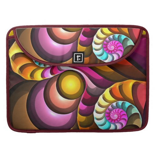 Modern Spiral, Fractal Abstract Macbook Pro sleeve