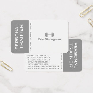 Modern split contrast cover business card