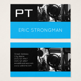 Modern split space style business card