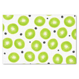 Modern spring bright watercolor kiwi fruit pattern tissue paper