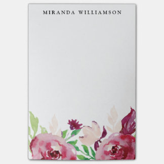 Modern Spring Flowers Post-it Notes